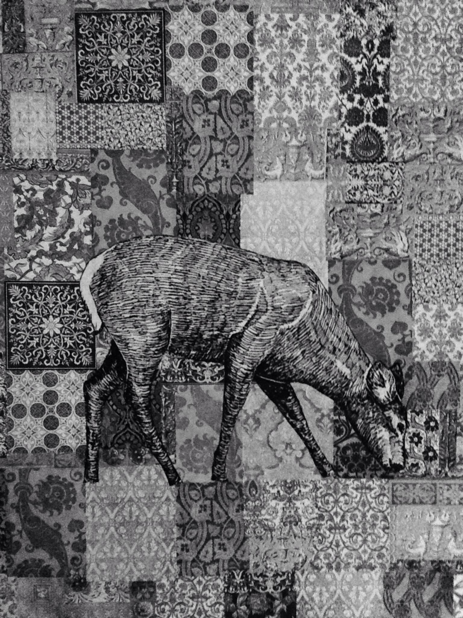 Decoupage Deer -- Large Canvas