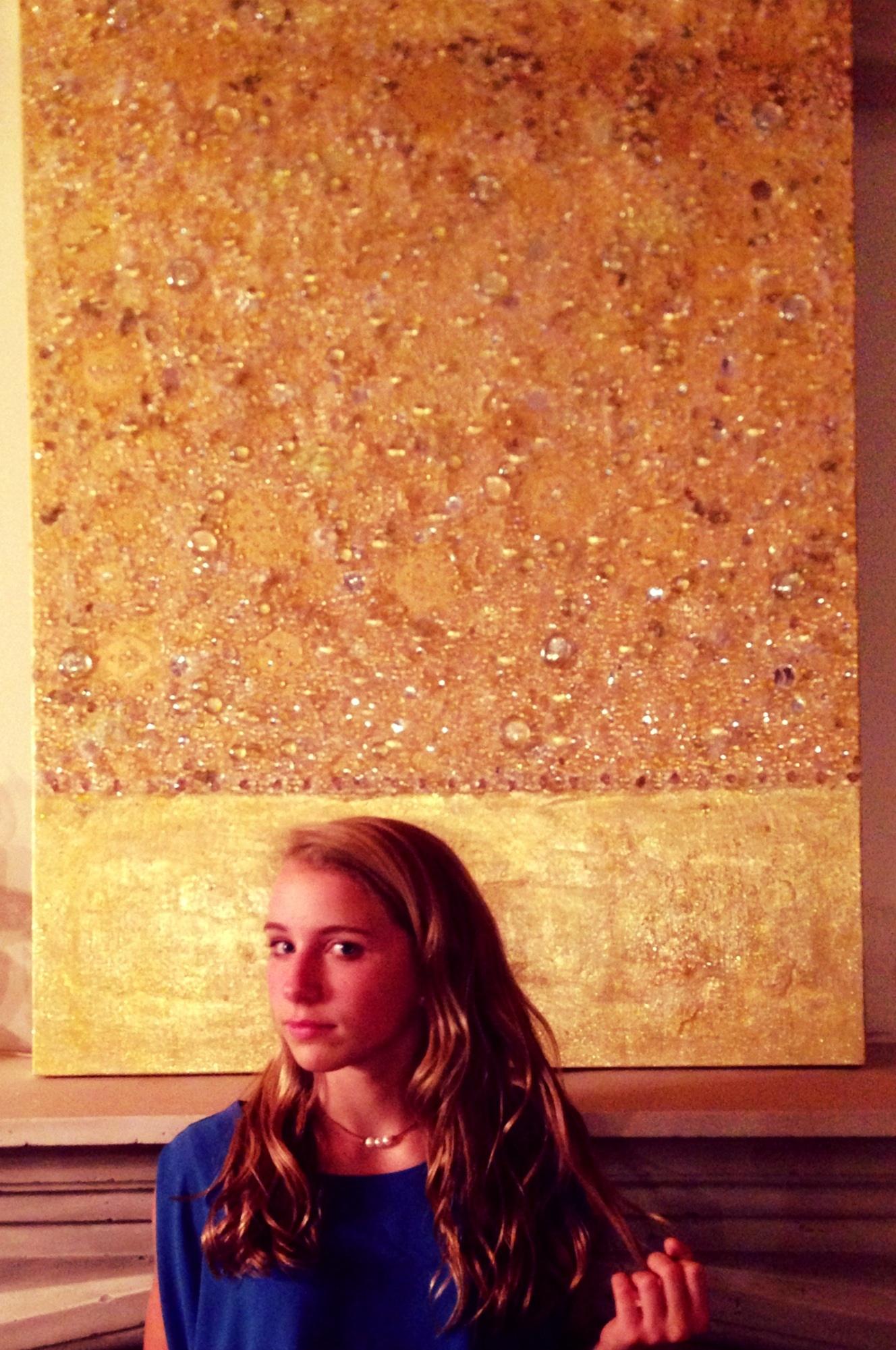 Glasswork on canvas Gold